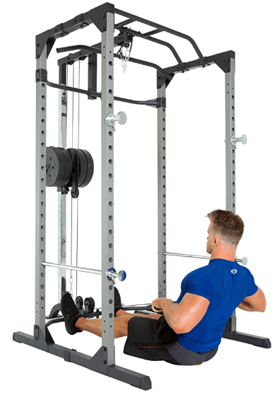 power rack with lat pulldown