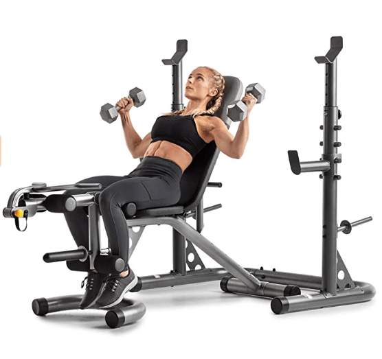 Gold's Gym XRS 20 Olympic Workout Bench with Squat Rack