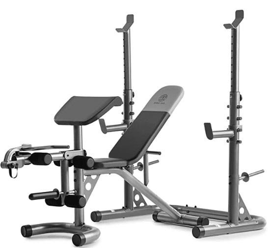 Gym XRS 20 Olympic Workout Bench With Squat Rack